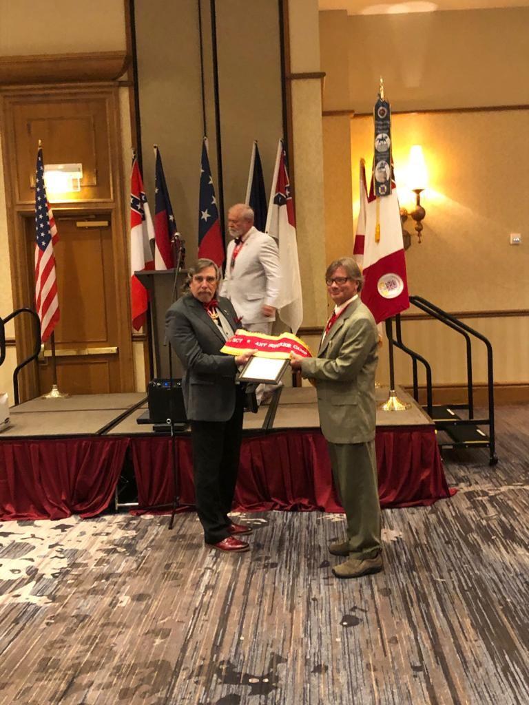 SCV 2020 Convention Rick receiving award