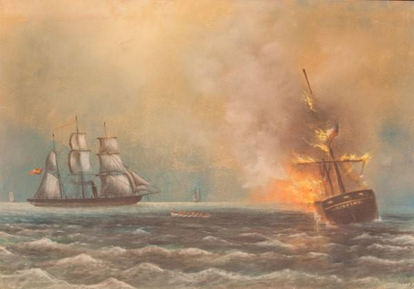 CSS Alabama sinks the whaler Virginia