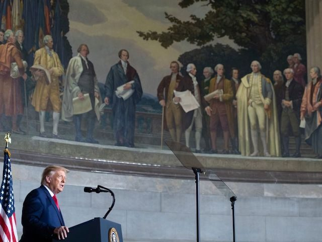 """President Donald Trump on Thursday announced the creation of a """"1776 Commission"""" to fight the growth of far-left revisionist history such as the 1619 Project"""