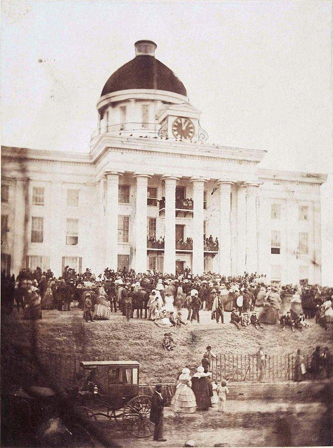 22 President Davis Inaugural Sworn in 1861 Richmond VA