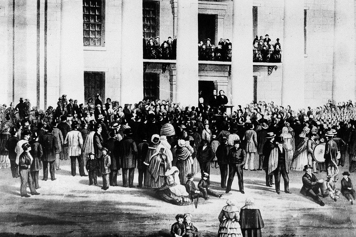 Civil War Confederate Inauguration 1861