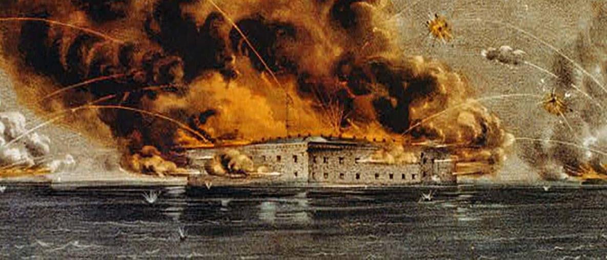 25 Jefferson Davis Fort Sumter