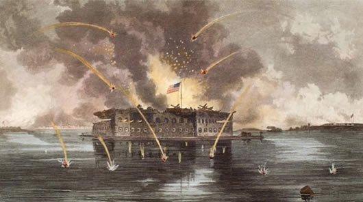 26 Fort Sumter Charleston SC under fire