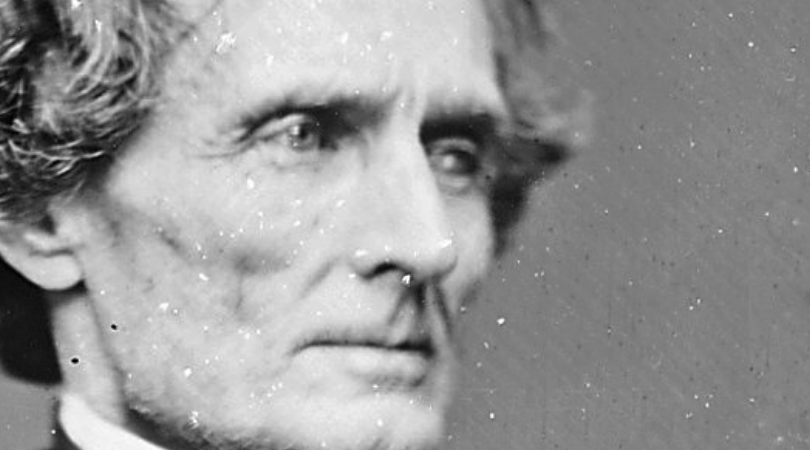 President Jefferson Davis the president of the Confederate States from 1861 to 1865