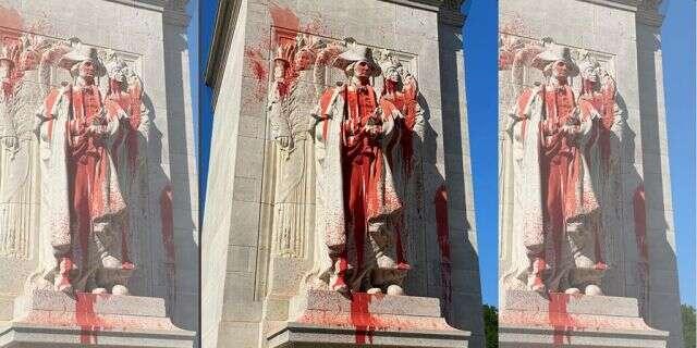 38 George Washington Statue Vandelized and Defaced
