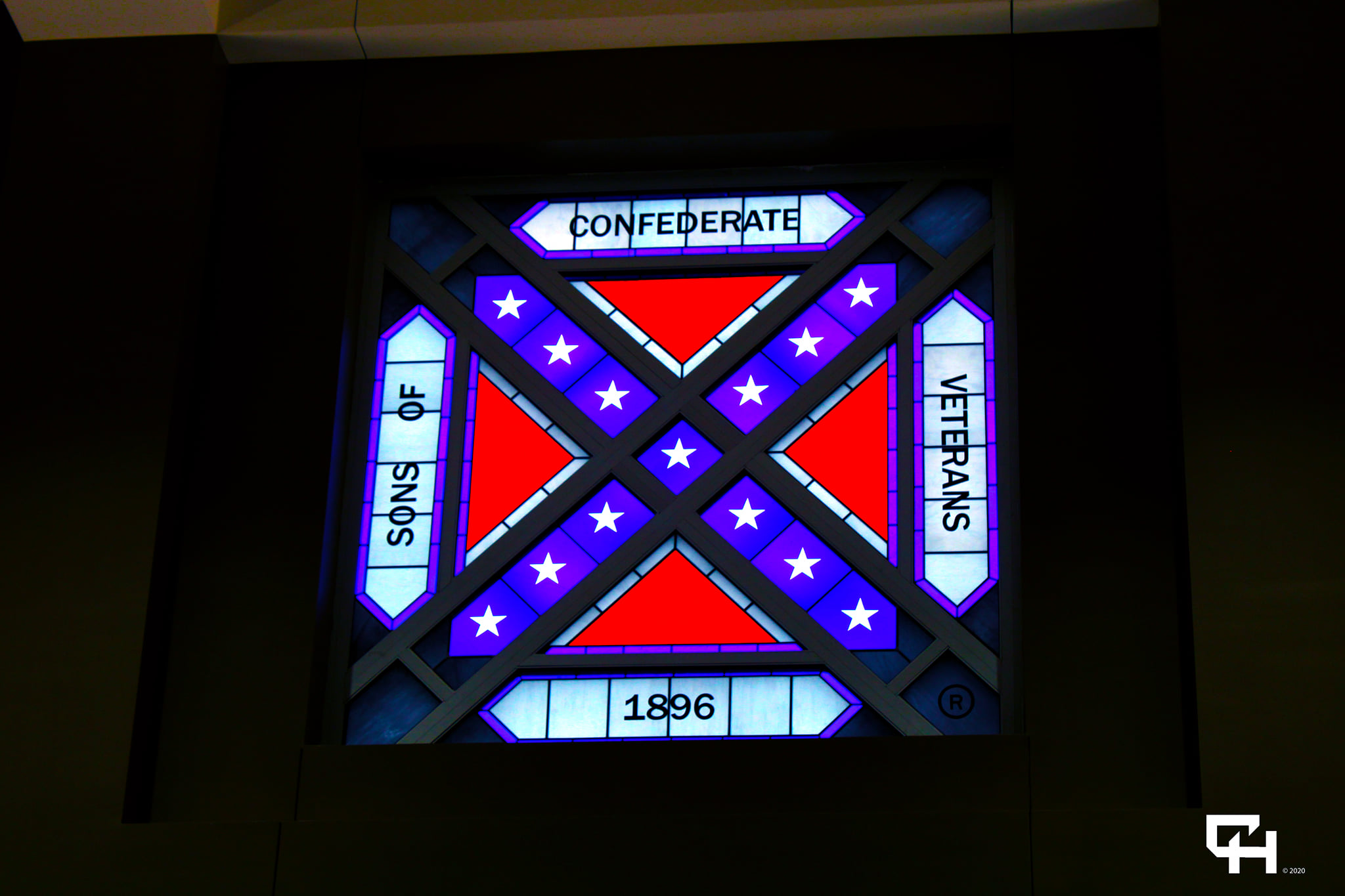 Sons of Confederate Logo Electric Sign Billboard