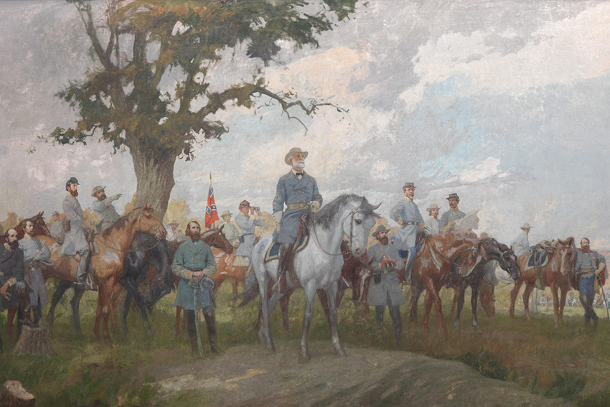 The Memorial Military Murals: Lee and His Generals (Summer), 1920 (oil on canvas glued to plaster walls)