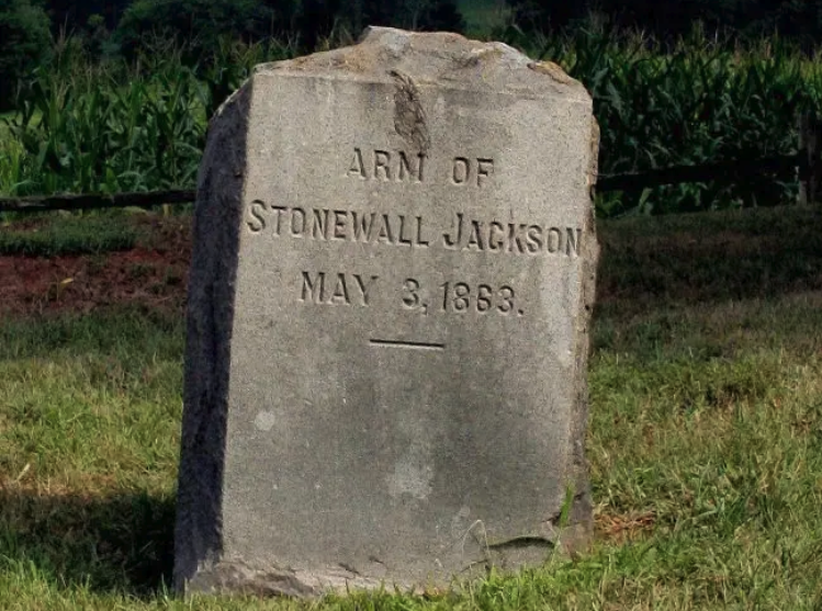 28 General Stonewall Jackson lost Arm grave stone