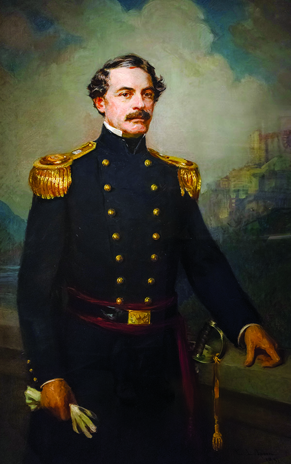 Robert E Lee (1807-1870) as Superintendent of the United States Military Academy at West Point. Portrait by Ernest Ipsen, oil on canvas, 1931