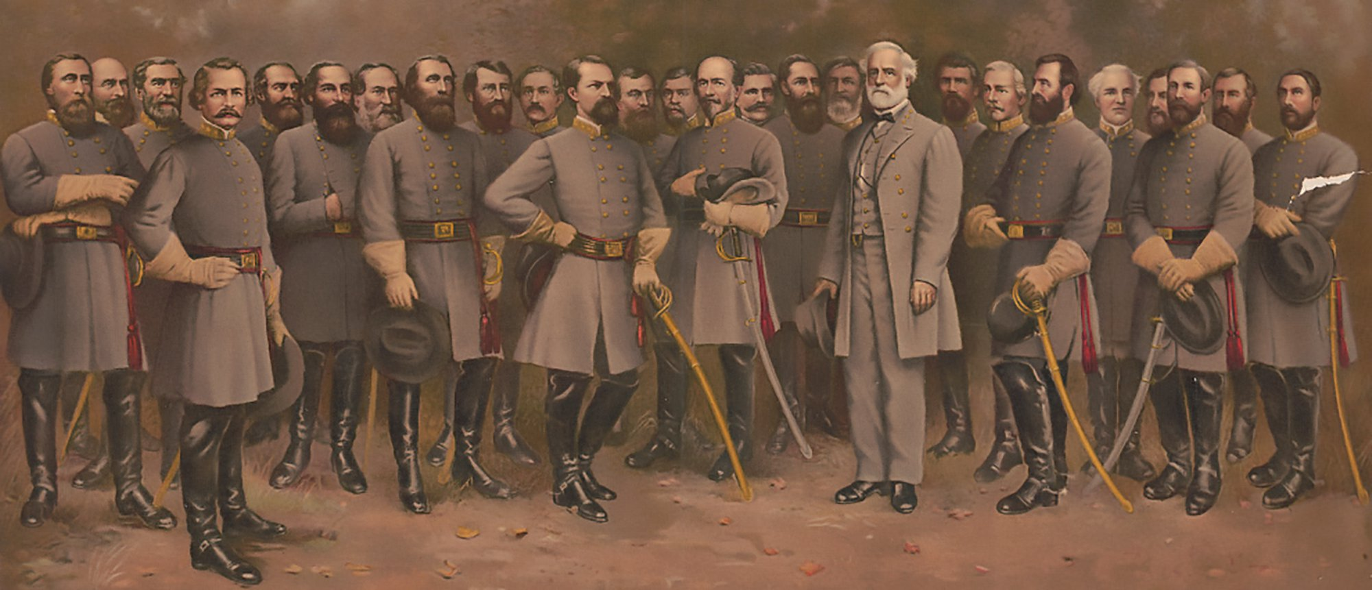 39 General Robert E Lee with the most famous Confederate CSA Army Generals