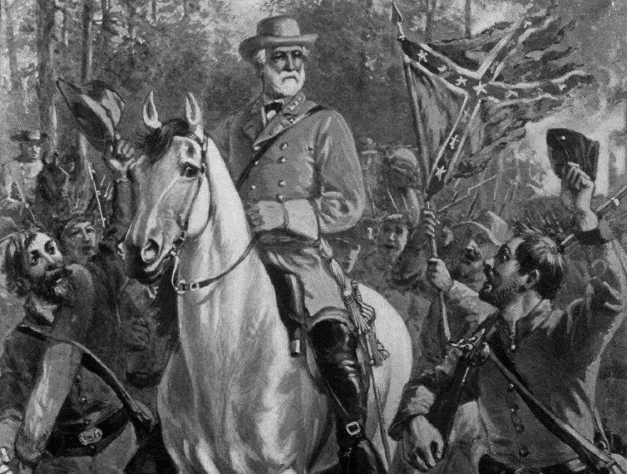 6 Robert E Lee Riding his famous White Horse