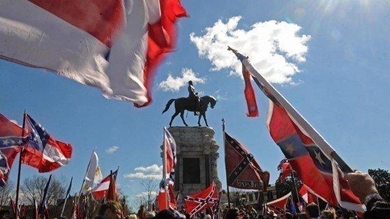 90 Confederate Flag Supporters in Riochmond VA