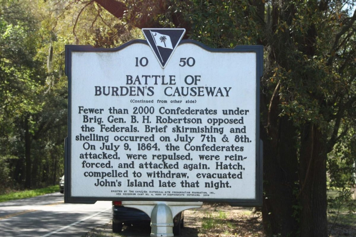 The Island Connection Burdens Causeway SC marker