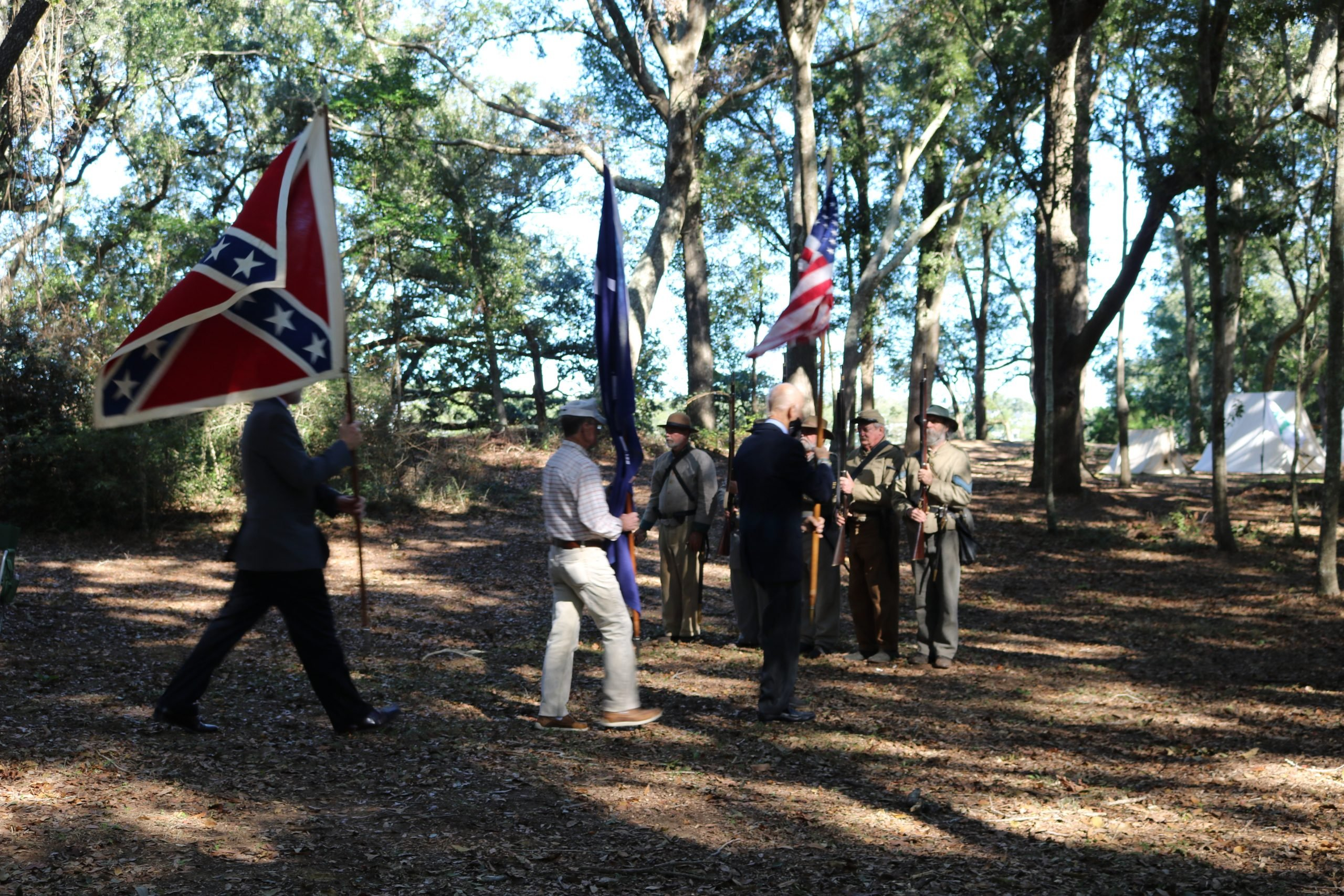Reenactment Confederate Soldiers 3