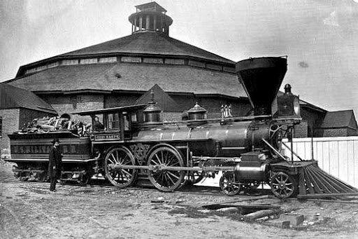 Typical Civil War locomotive