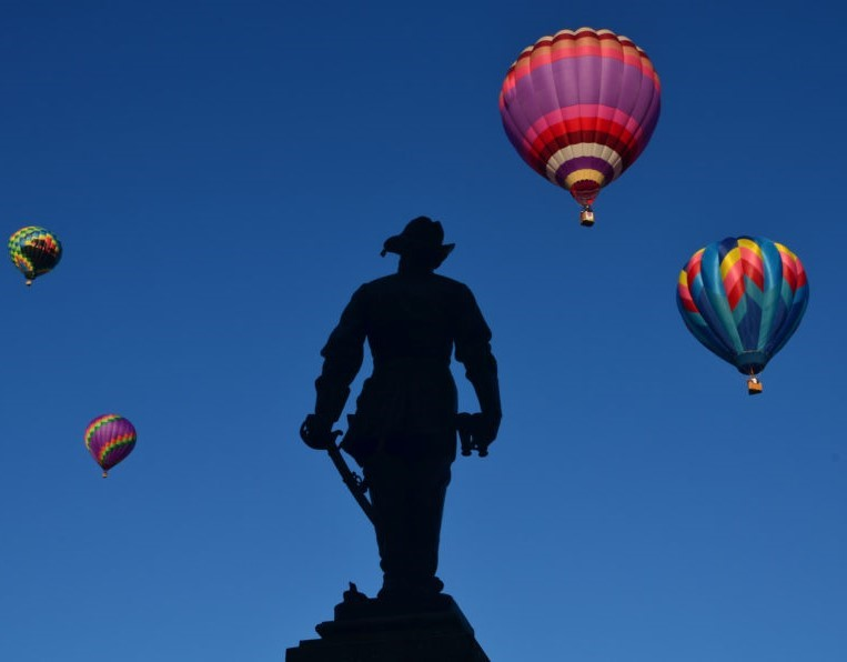"Lee-Jackson Day parade in Lexington every year. A monument to Thomas J. ""Stonewall"" Jackson in Lexington Virginia"