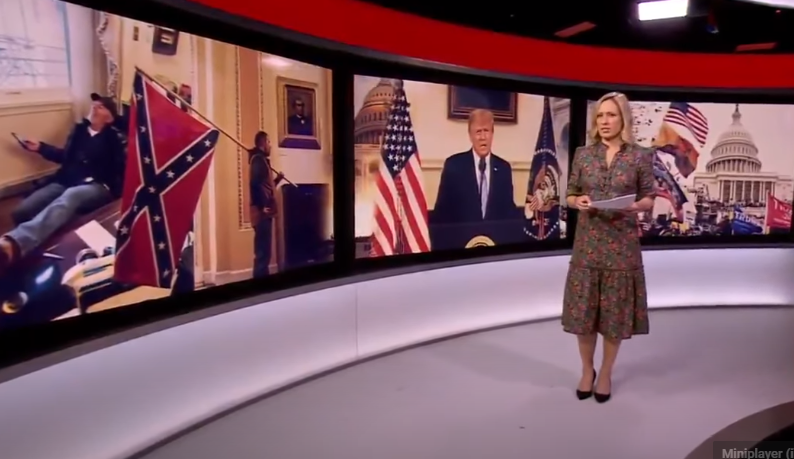 Media Exploiting the ONLY Man with the Confederate Flag inside the US Capitol during the Breach on purpose