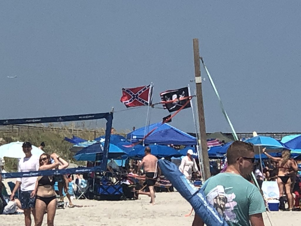 Confederate Flag on the Beaches of Isles Palms SC